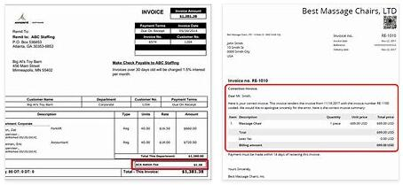 Meanings of Invoice Correction