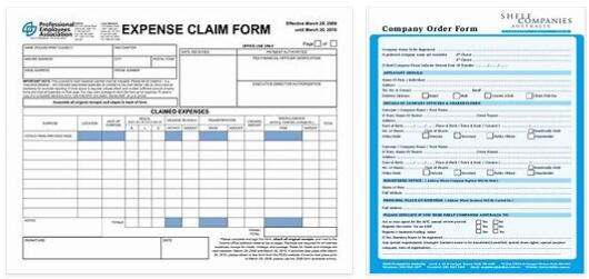 Meanings of Company Forms